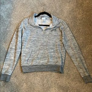 Light Gray Victoria's Secret Quarter Zip